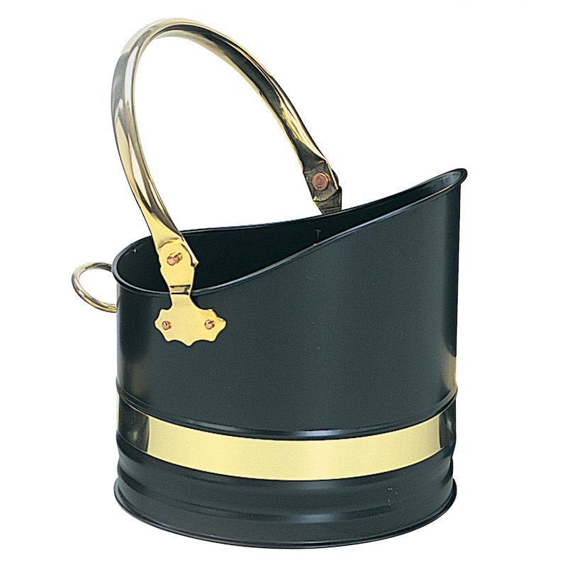 Manor Warwick Coal Bucket - Black / Brass