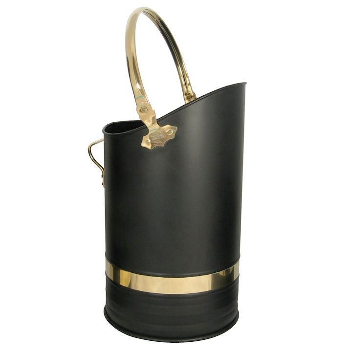 Manor Henley Hod Coal Scuttle - Black / Brass