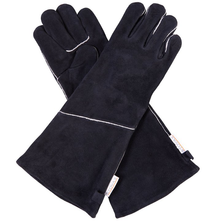 Stovax Heat Resistant Gloves - Extra Long (Pair) - Black