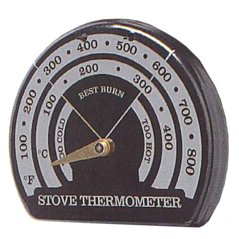EVA Magnetic Flue Pipe Thermometer - Black