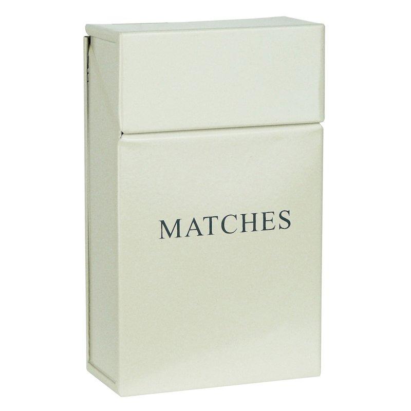 Manor Box Match Holder - With Lid - Cream