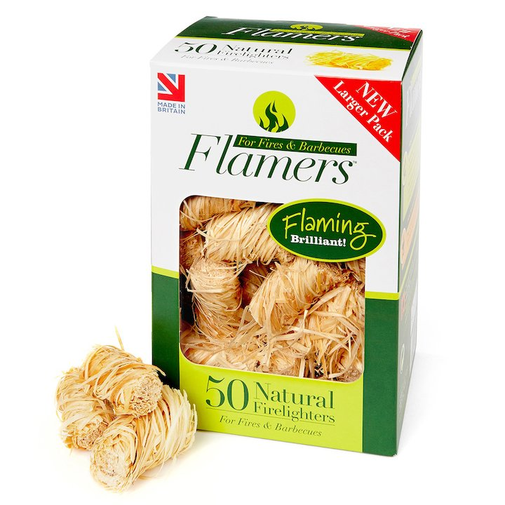 Certainly Wood Flamers Whisp Firelighters Wood Large - Wood