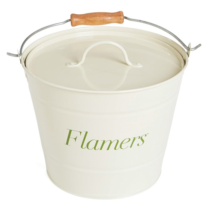 Manor Flamers Firelighter Bucket - With Lid - Cream