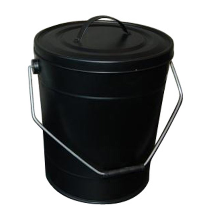 Aduro Fireline Ash Bucket With Lid - Black
