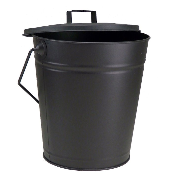 Manor Dudley Ash Bucket With Lid - Black