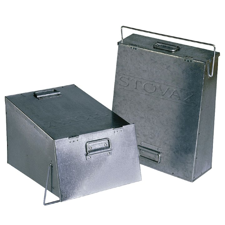 Stovax 4231 Ash Caddy With Handle - Galvanised
