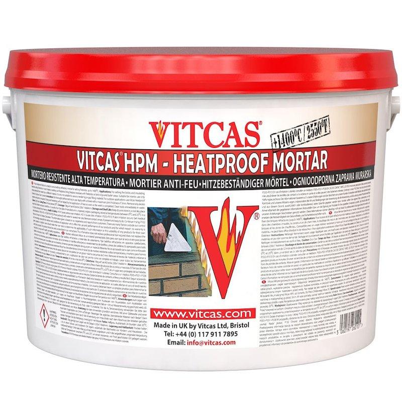 Vitcas Heat Resistant Mortar 10KG Tub - Grey