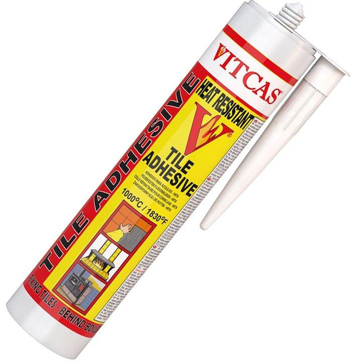 Vitcas Heat Resistant Tile Adhesive 310ml Cartridge - Grey