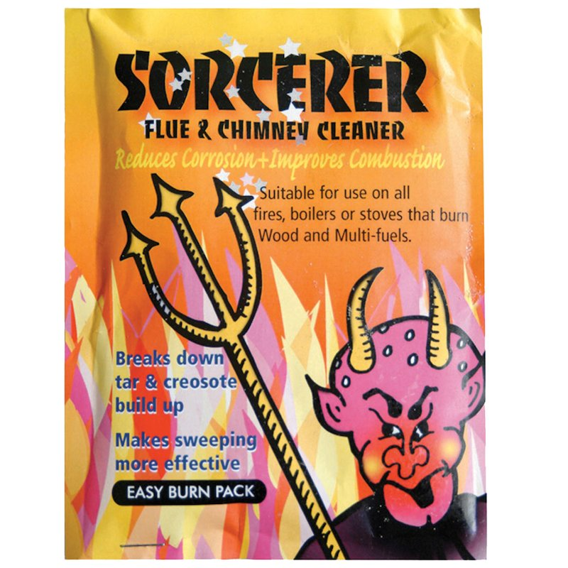 Sorcerer Chimney Cleaning Sachets 90g Packets - Grey