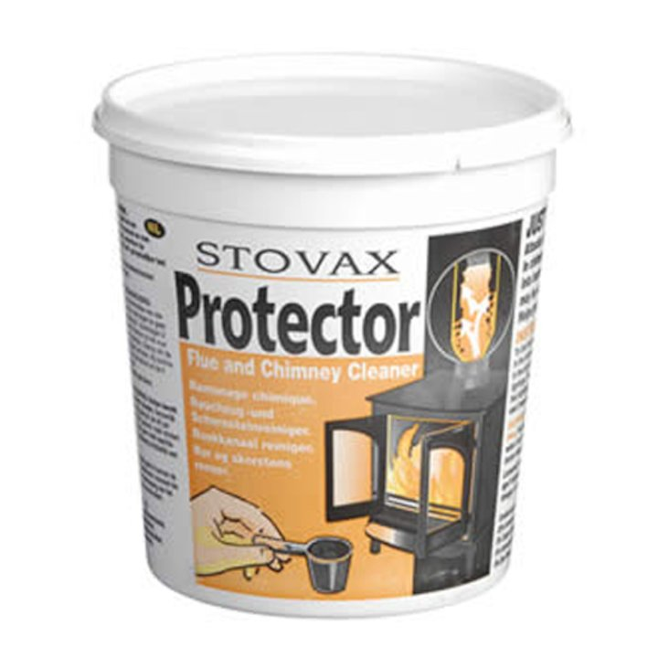 Stovax Protector Chimney Cleaner Powder 1KG Tub - Grey