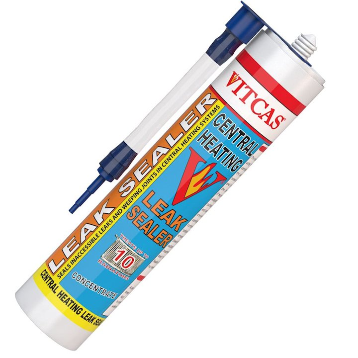 Vitcas Central Heating Leak Sealer Concentrate 310ml Cartridge - White