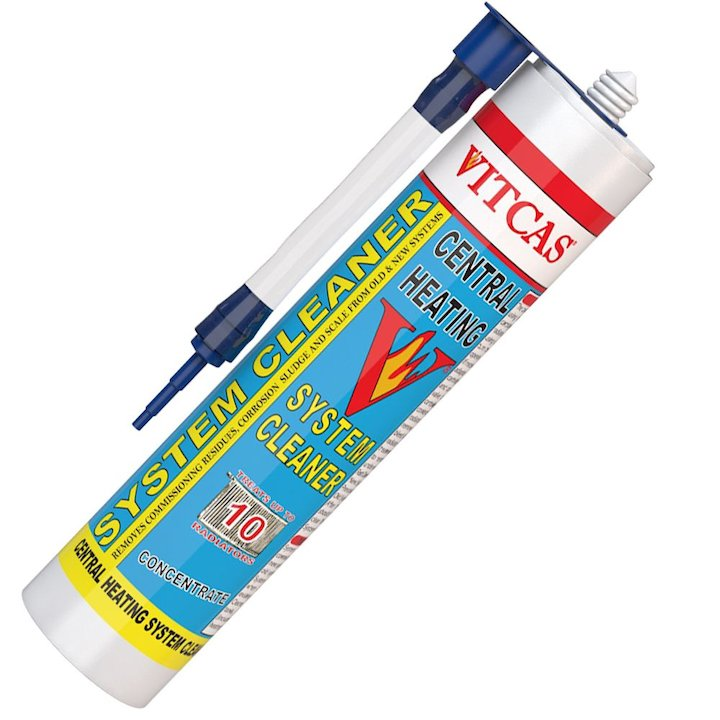 Vitcas Central Heating System Cleaner Concentrate 310ml Cartridge - White