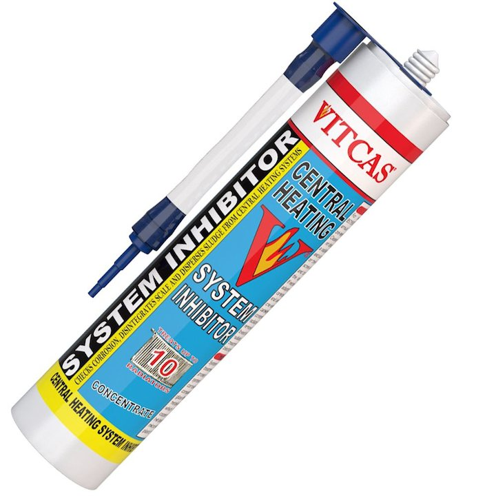 Vitcas Central Heating System Inhibitor Concentrate 310ml Cartridge - White