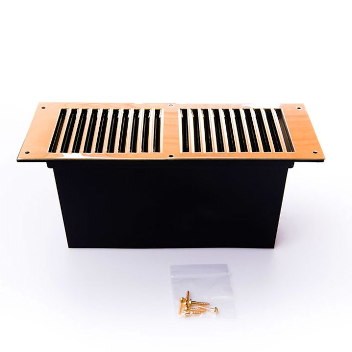 Rytons Louvered Floor Ventilator - Brass