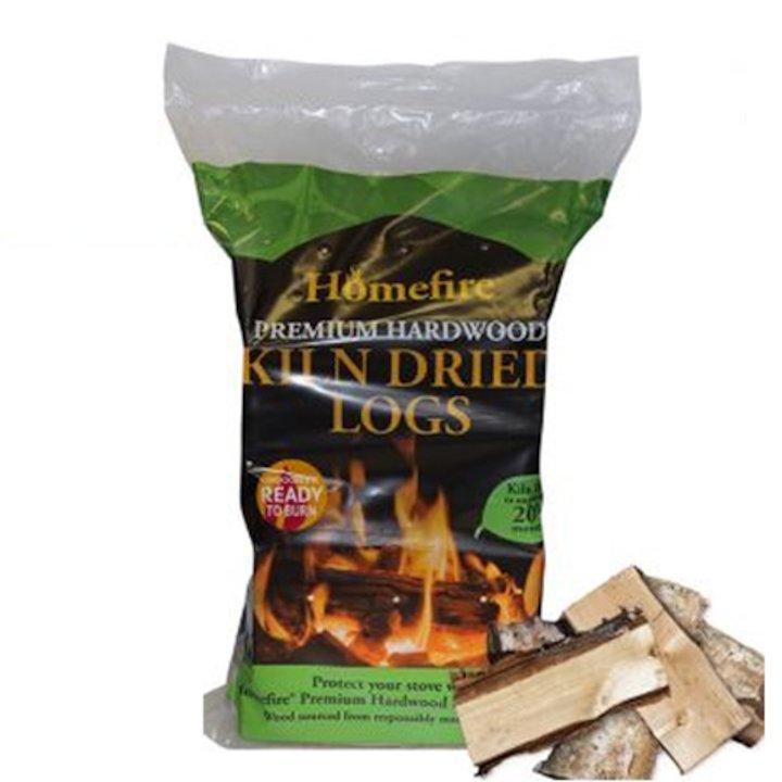 EVA Kiln Dried Hardwood Logs - 10KG Bag - Brown