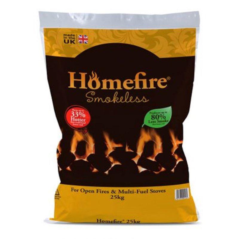 EVA Homefire Smokeless Coal Pallet - 50x 25KG Bags - Black
