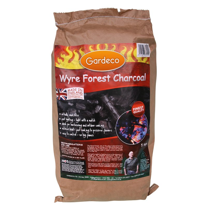 Gardeco Wyre Forest Charcoal - 5KG Bag - Black