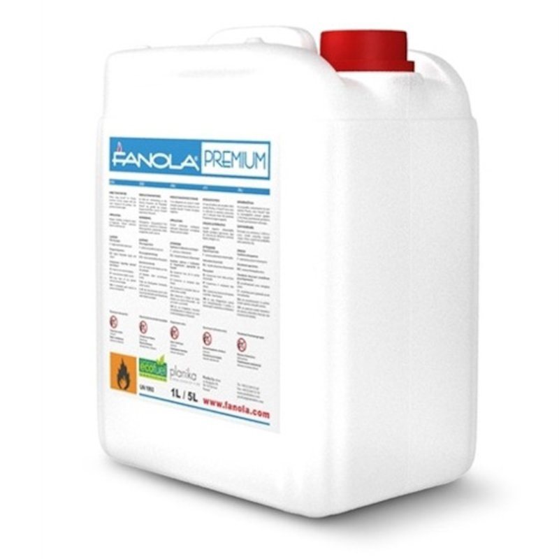 Fanola Premium Bio-Ethanol 5L Bottle - Clear