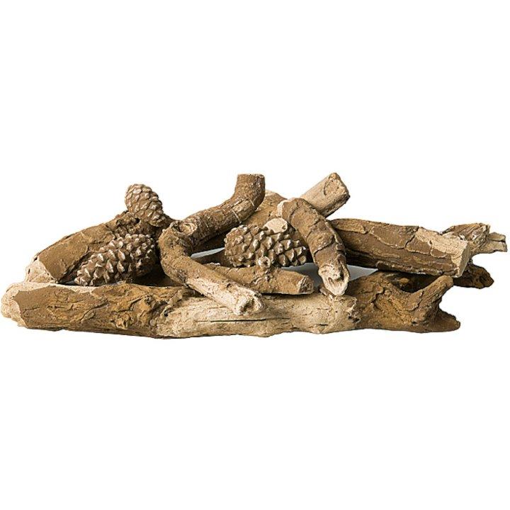 Gallery High Definition Ceramic Gas Log Pieces - Brown