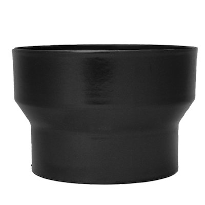 Evaflue Stove Pipe Increasing Adaptor - Black Vitreous Enamel
