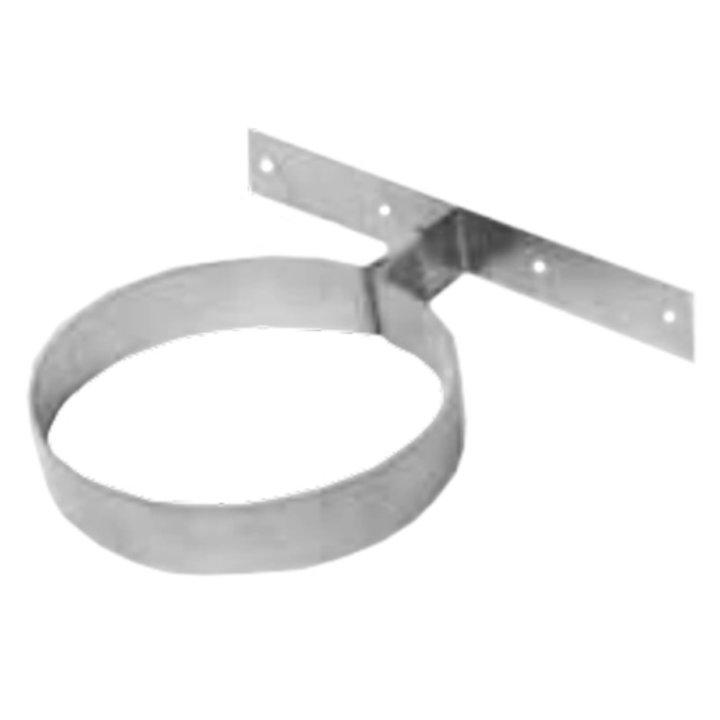 Gazco Fixed Wall Support Plate - Balanced Flue Pipe - Silver Filigree