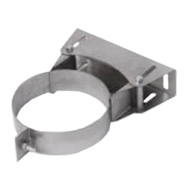 Gazco Adjustable Wall Support Plate - Balanced Flue Pipe - Silver Filigree