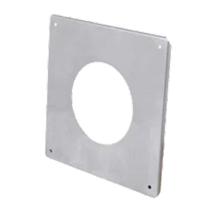 Gazco External Wall Finishing Plate - Balanced Flue Pipe - Silver Filigree