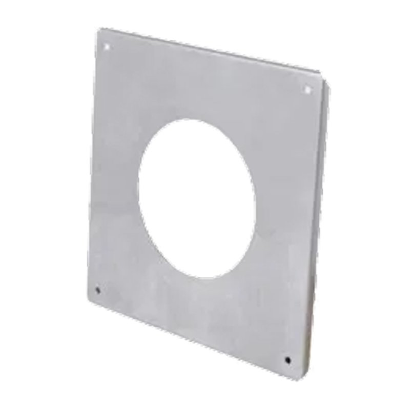 Gazco External Wall Finishing Plate - Balanced Flue Pipe - Silver Filigree