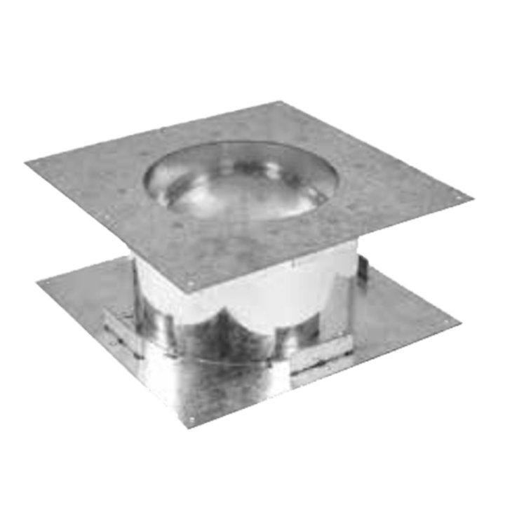 Gazco Fire Stop Plate - Balanced Flue Pipe - Silver Filigree