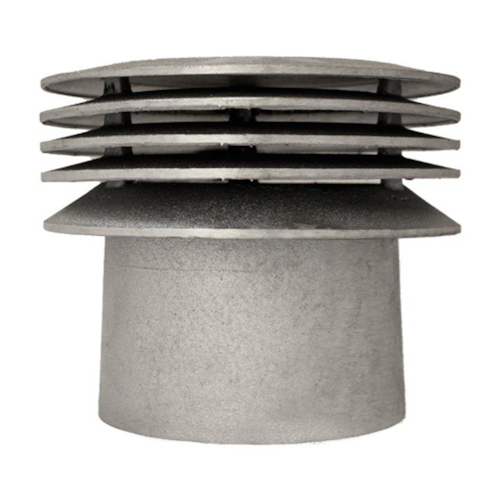 Triplelock Gas/Oil Aluminum Cast Terminal Cowl - Silver Filigree