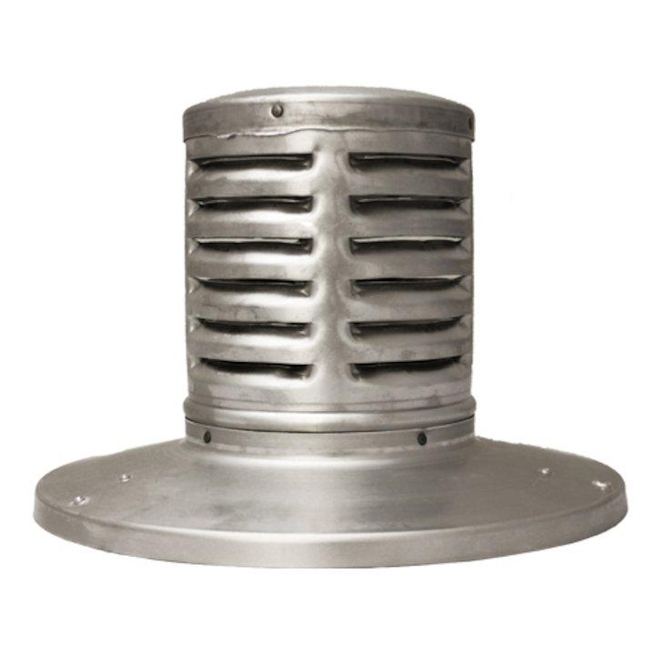 Triplelock Gas/Oil Gas Flue Bug Cowl - Silver Filigree