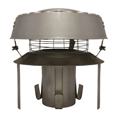Quattro Plus Solid Fuel Antidowndraft Pot Hanging Cowl