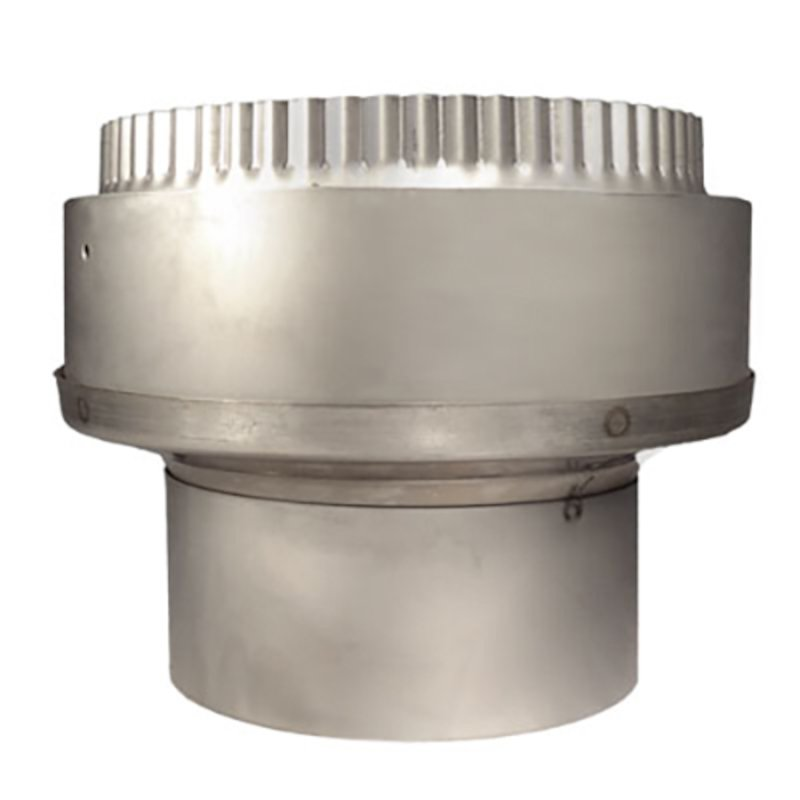 Quattro Plus Solid Fuel MR Increasing Stove Pipe to Chimney Liner Adapter - Silver Filigree