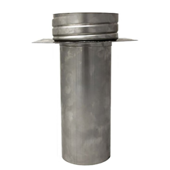 Quattro Plus Solid Fuel MR Register Plate Increasing Stove Pipe to Chimney Liner Adapter - Silver Filigree