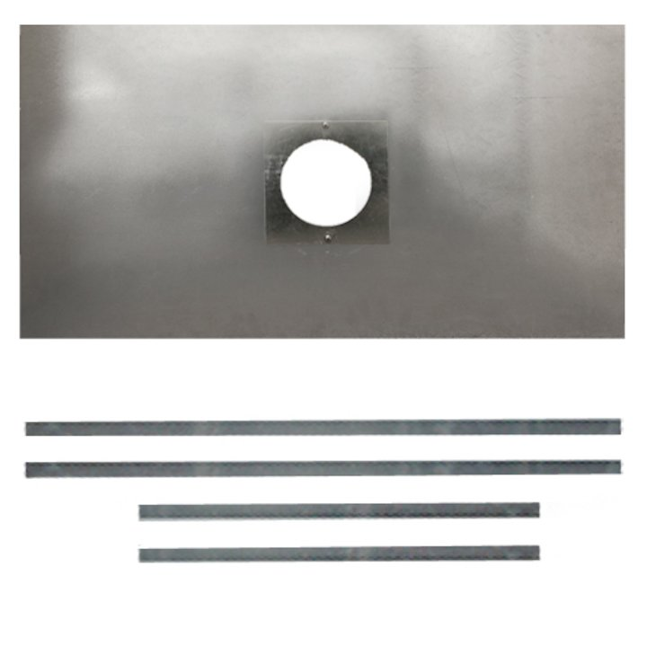 Premium Steel Register Plate 900x495 Silver Brackets with Hole Silver Trim - Silver Filigree