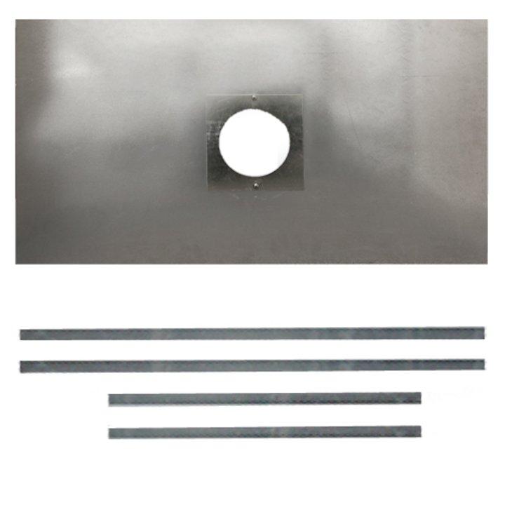 Premium Steel Register Plate 900x600 Silver Brackets with Hole Silver Trim - Silver Filigree