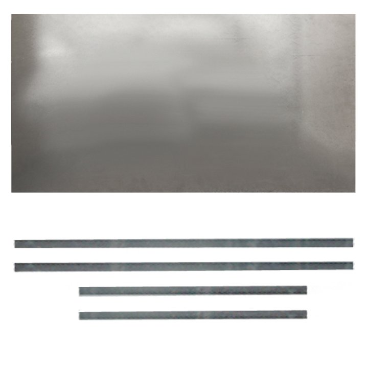Premium Steel Register Plate 900x600 Silver Brackets Only Black Trim - Silver Filigree
