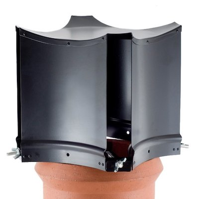 Brewer Aerodyne Chimney Cowl Black Clamp Fix