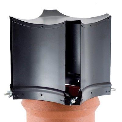Brewer Aerodyne Chimney Cowl Black Clamp Fix