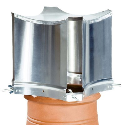 Brewer Aerodyne Chimney Cowl Silver Clamp Fix