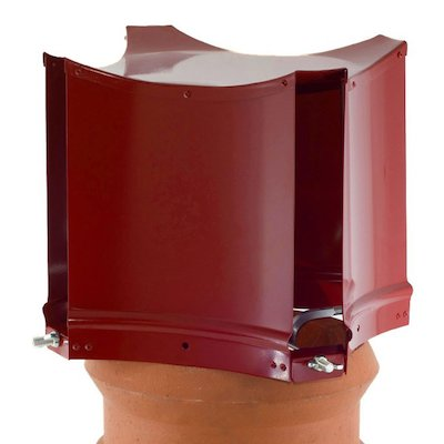 Brewer Aerodyne Chimney Cowl Terracotta Clamp Fix