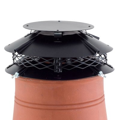 Brewer Ultimate Flue Cowl Black Hook Fix