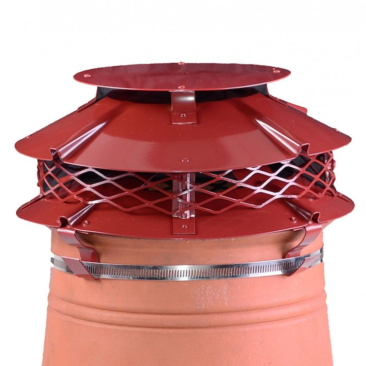 Brewer Ultimate Flue Cowl Terracotta Strap Fix - Terracotta