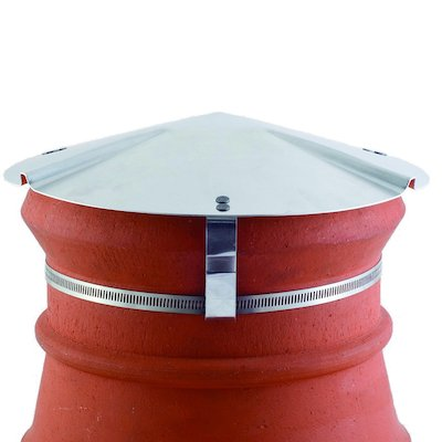 Brewer Chimney Pot Capper Silver Soapstone Top & Front