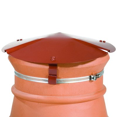 Brewer Chimney Pot Capper Terracotta Soapstone Top & Front