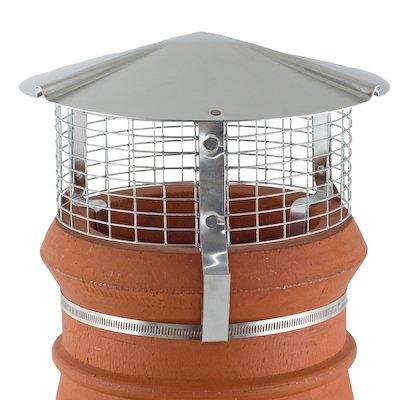Brewer Chimney Pot Simple Birdguard Silver Gas Fires