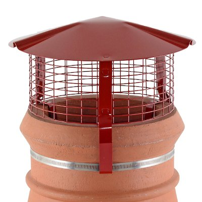 Brewer Chimney Pot Simple Birdguard Terracotta Gas Fires