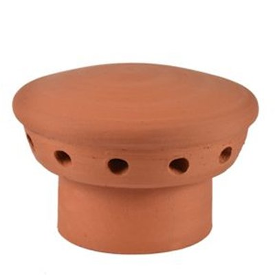 Clay RF Flue Vent Breathable Chimney Pot Capper