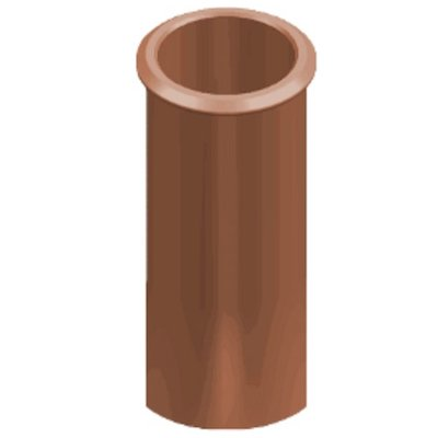 Clay Cannon Head Straight Roll Top Chimney Pot