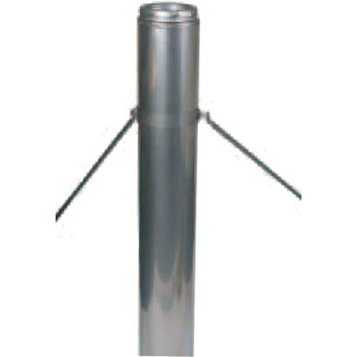 Convesa KC Twinwall Flue Telescopic Roof Brace Arms - Silver Filigree